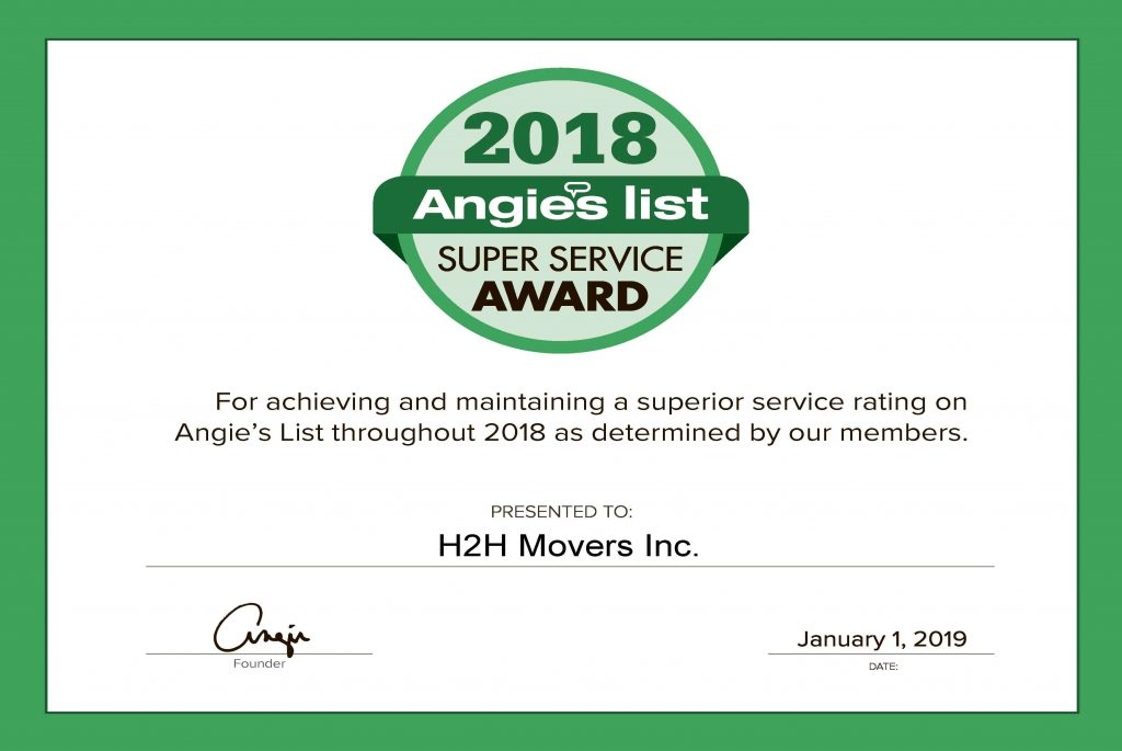 Get professional moving help with H2H Movers